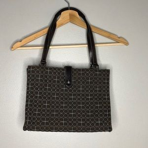 Kate Spade dot Noel brown & turquoise quilted bag